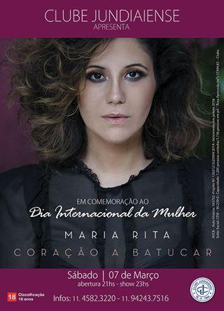 Maria Rita apresenta Coração a Batucar em Jundiaí, SP